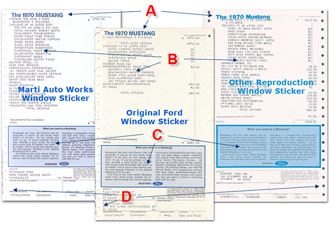 Ford Window Sticker >> The Authenticity Of Window Stickers By Marti Auto Works
