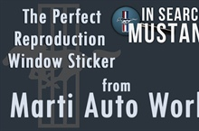 The Authenticity of Window Stickers by Marti Auto Works